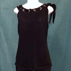 Dark blue shirt w/ribbon and gems size 14/16